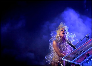 Lady Gaga Bubbles 320x230 custom Oprah Bumped to Number Two While Lady Gaga Takes the Throne for Most Powerful Celeb