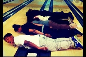 diddy son planking bowling alley 300x300 Celebrity Planking Pics: Justin Bieber, Chris Brown, Katy Perry and More!