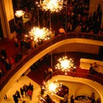The lobby at the Met Opera House, Lincoln Center NYC.