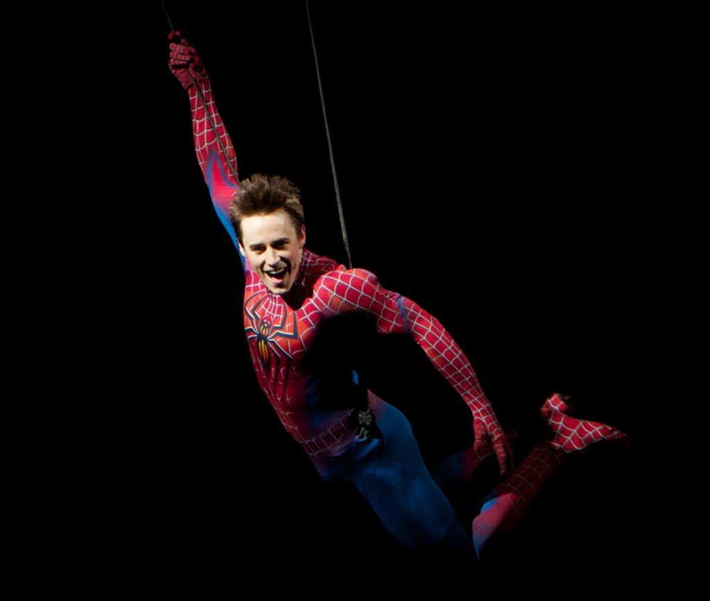 Reeve Carney as Spider Man in Spider Man Turn Off The Dark 1024x867 Reeve Carney Leaving Hit Broadway Musical Spider Man: Turn Off the Dark Sept. 15